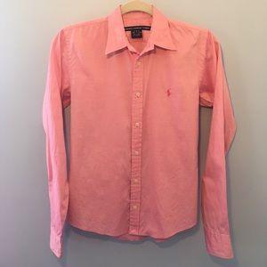 Ralph Lauren Sport pink salmon button up shirt